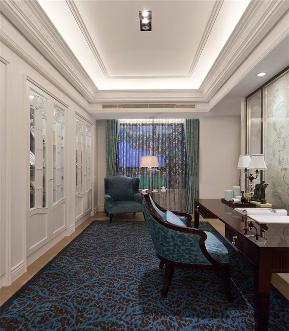 新古典 大户型 跃层 复式 80后 小资 书房图片来自高度国际姚吉智在160平米大平层低调的轻古典的分享