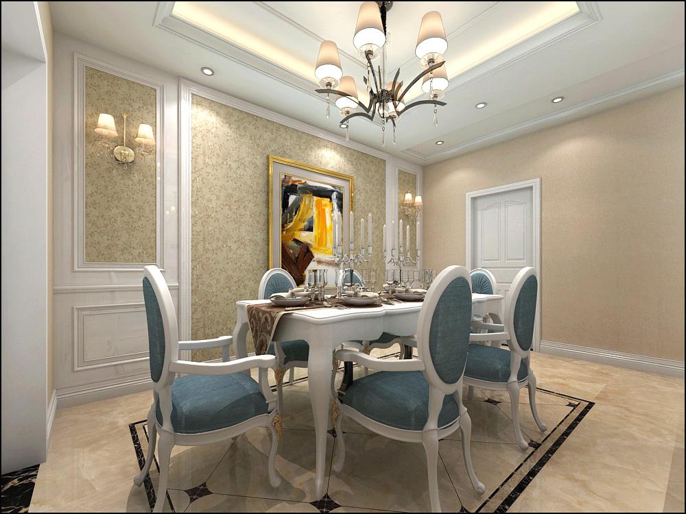 欧式 三居 白领 80后 餐厅图片来自广西品匠装饰集团在大唐天成欧式风格装修案例的分享