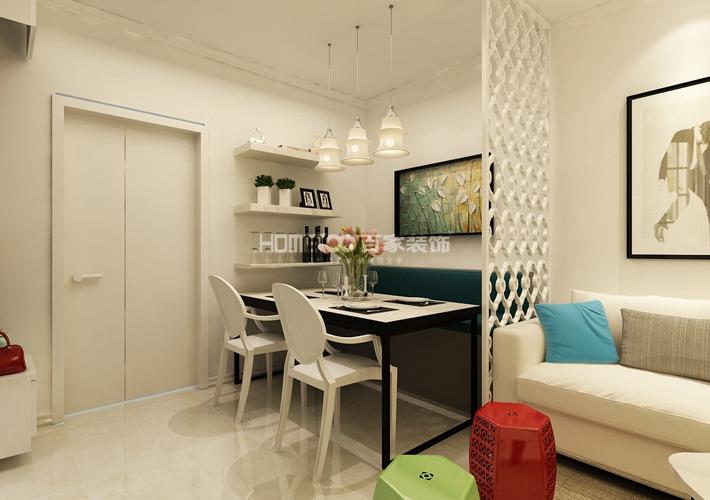 二居 豪庭 现代风格 餐厅图片来自百家设计小刘在昆山豪庭74平现代风格半包2.7万的分享