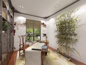 中式 新中式 一居 白领 小资 书房图片来自阳光放扉er在力天装饰-富力尚悦居-76㎡的分享