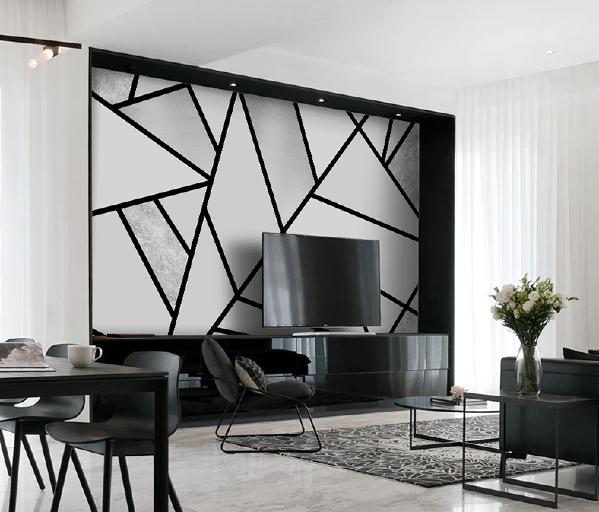 经典的黑白灰颜色搭配和谐而充满艺术感,简约的风格中凸显了一丝硬气,图案以简单的线条组成不规律几何图形,不用担心会过时。