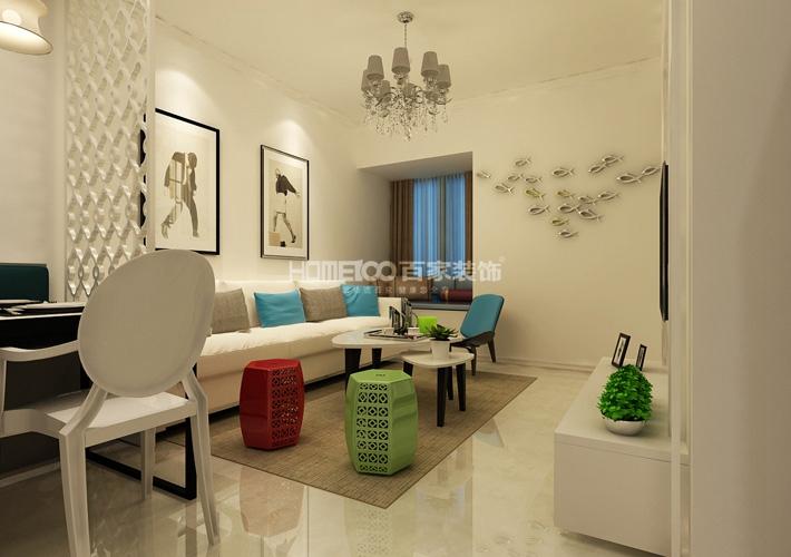 二居 豪庭 现代风格 客厅图片来自百家设计小刘在昆山豪庭74平现代风格半包2.7万的分享