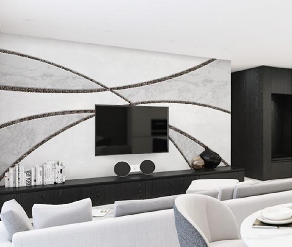 《乐维斯》流畅的艺术线条,洒脱空间,挑动生活的品位。设计师以精美如画的马赛克线条,任意勾勒出的交互空间,饰以浅灰色大理石填充,纯净的白作为底色,黑白灰经典色调的协调搭配,带给人一种简约明朗的开阔之感!
