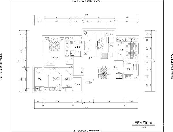 青岛阔达装饰-平面图