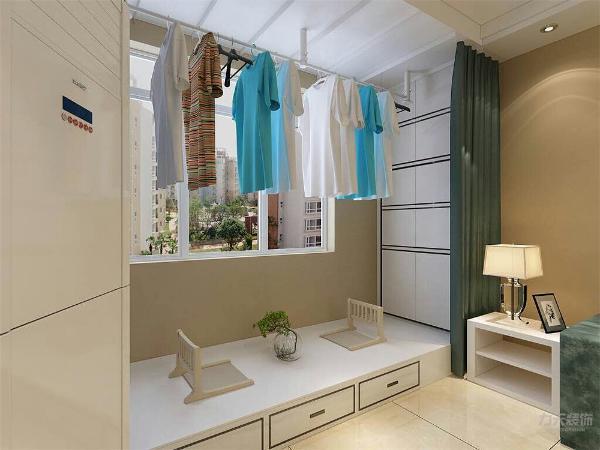 主卧位于房型的最靠里的地方,具有良好的私密性,主卧有一个窗,所以在采光,通风方面也不用担心,储物方面,主卧外边可以设计一个衣柜,大大的增加了储藏的空间