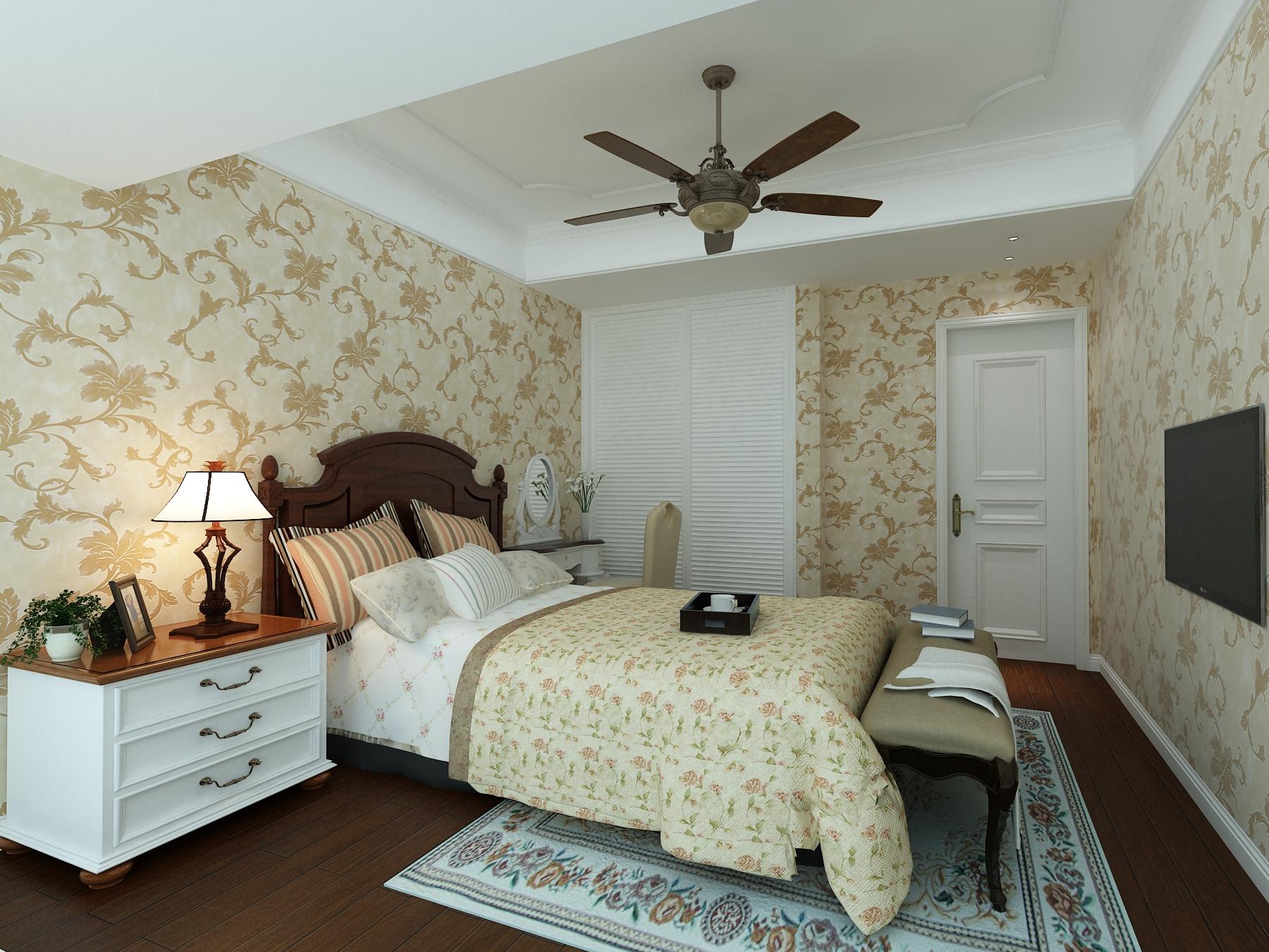 白领 80后 小资 地中海 卧室图片来自东大家居设计在地中海三室一厅的分享