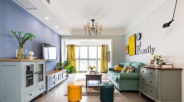 舒服惬意 105平清新美式3居室