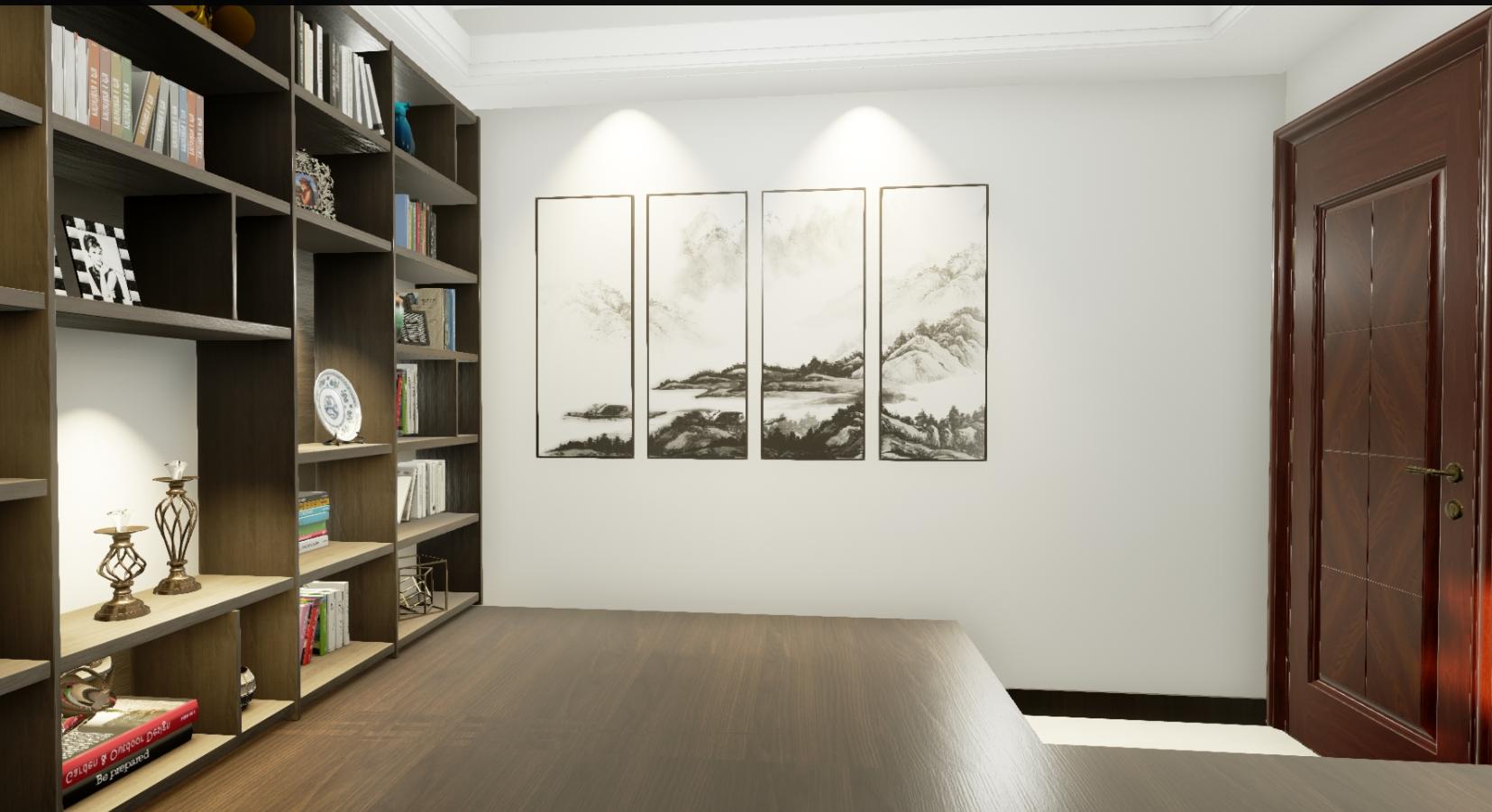 书房图片来自湖北省大唐安盛建筑工程有限公司在顶秀西北湖的分享
