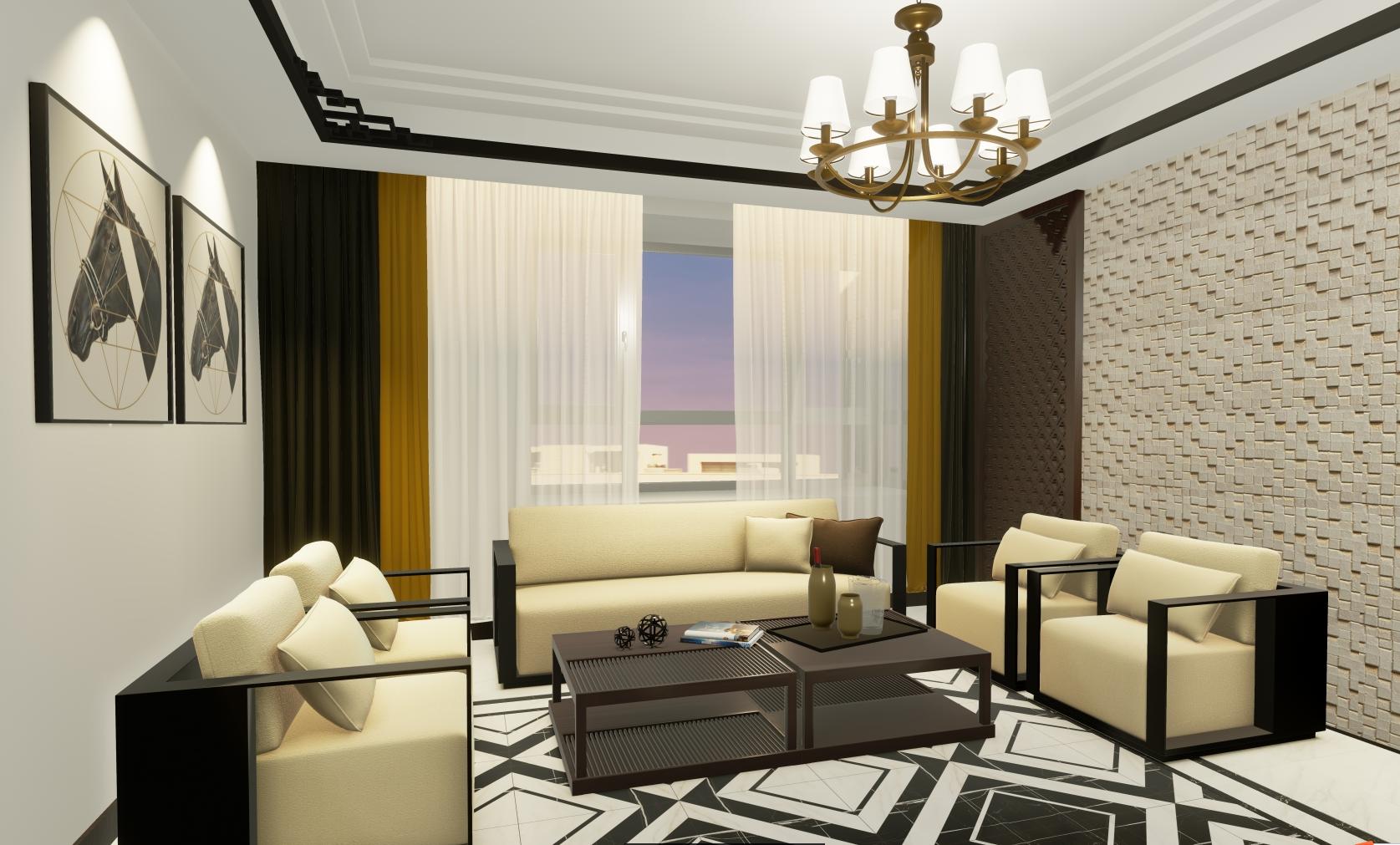 客厅图片来自湖北省大唐安盛建筑工程有限公司在顶秀西北湖的分享
