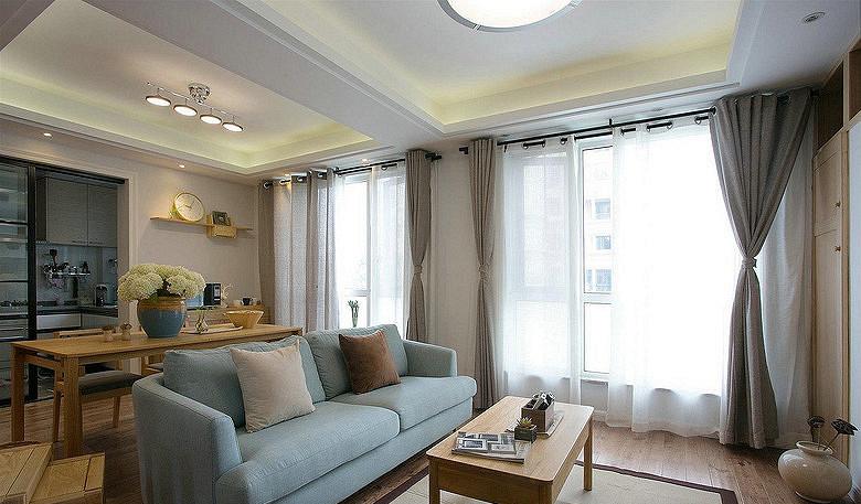 客厅图片来自家装大管家在88平二室二厅 温暖原木自然混搭的分享