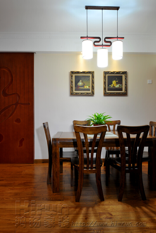 餐厅图片来自鸿扬家装武汉分公司在福星惠誉东湖城145-鸿扬家装的分享
