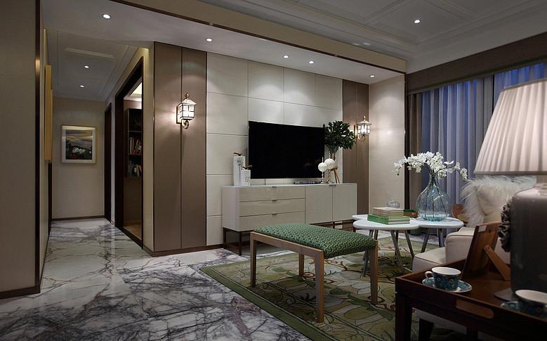 客厅图片来自家装大管家在17万造89平清新北欧家 不妨一看的分享