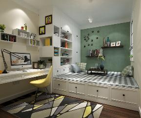 简约 混搭 三居 收纳 小资 北欧 现代 榻榻米 书房 儿童房图片来自圣奇凯尚室内设计工作室在圣奇凯尚装饰-现代简约居室的分享