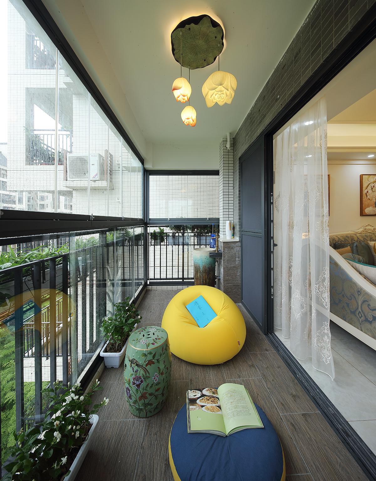 简欧风格 阳台图片来自设计师胡狸在一念浅喜,一念深爱的分享