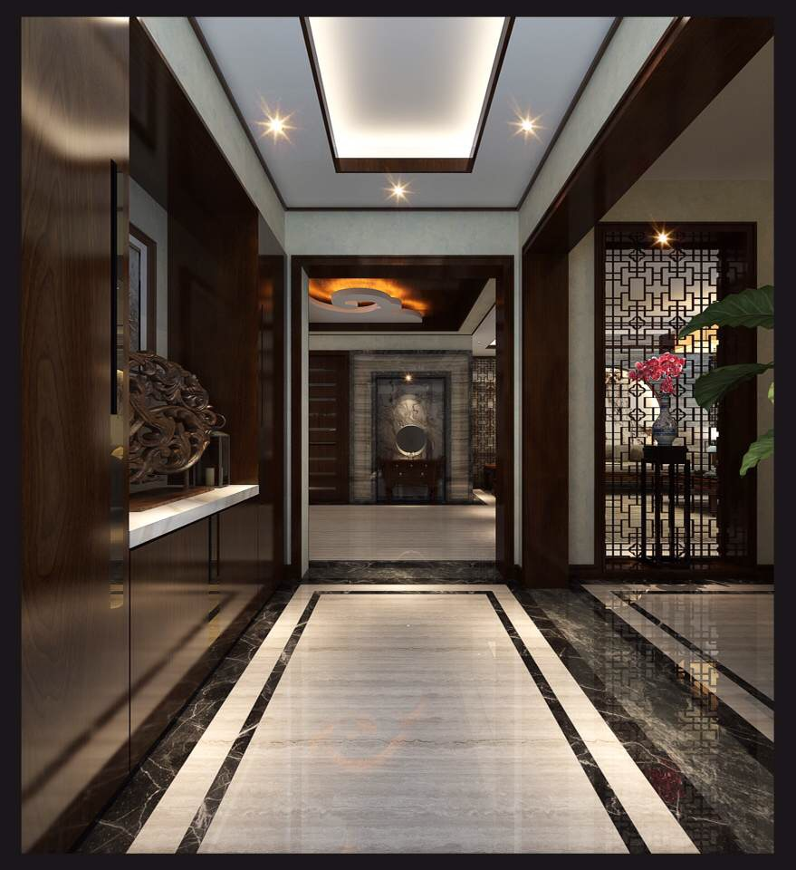 中式 旧房改造 80后 小资 收纳 白领 玄关图片来自也儿在龙湖长楹天街的分享