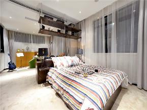 中式 现代中式 三居 大户型 复式 80后 小资 儿童房图片来自高度国际姚吉智在140平米现代中式淡雅如兰悠悠心的分享