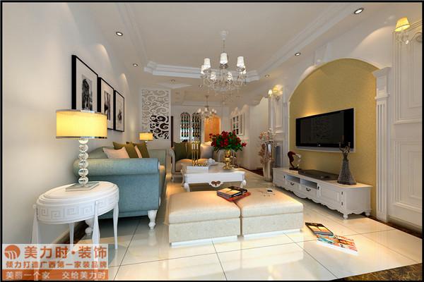 田园 二居 客厅图片来自性感哈哈哈哈哈-7在南宁瀚林美筑85㎡田园风格的分享