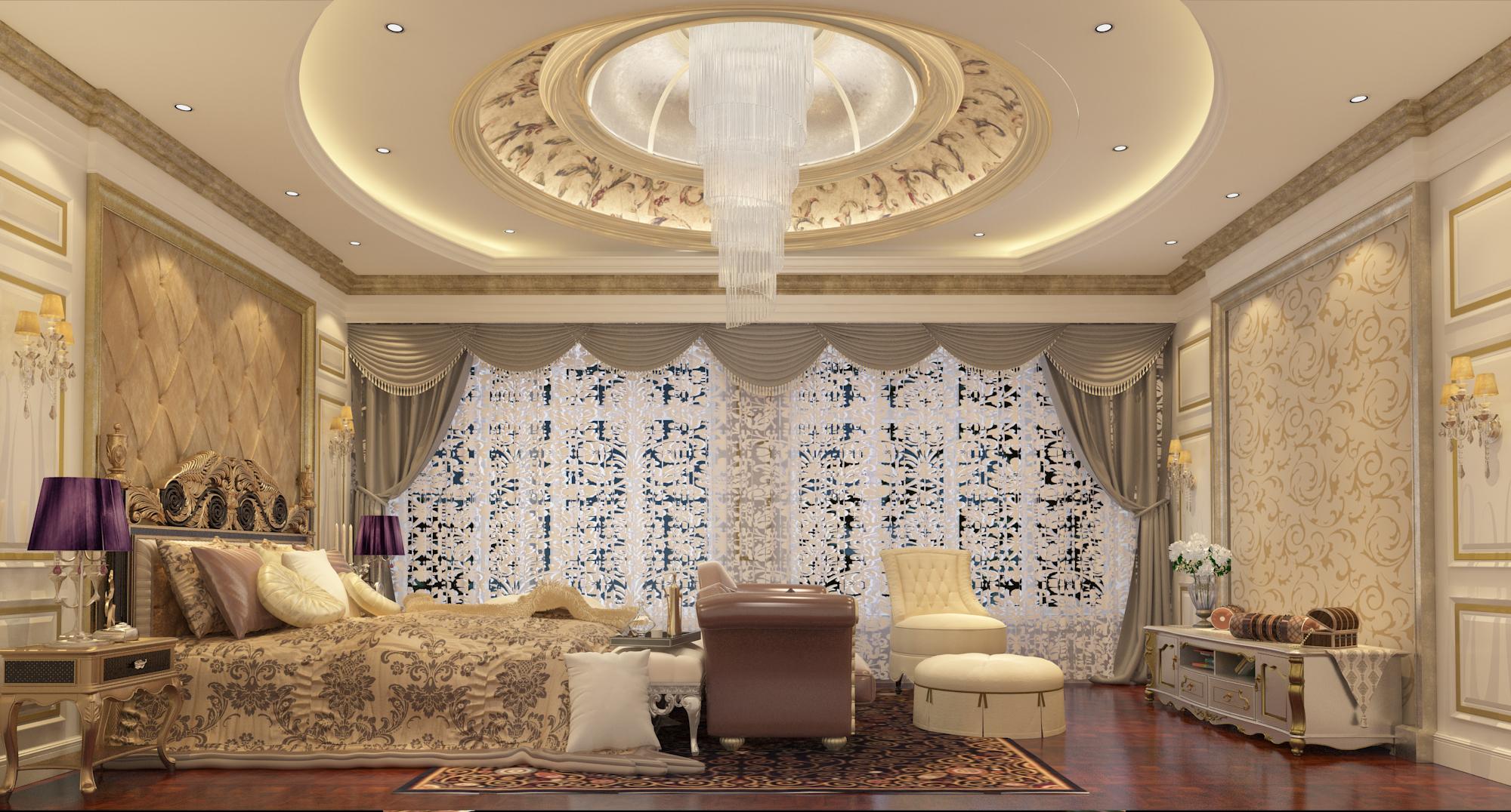 简约 欧式 混搭 别墅 小资 卧室图片来自林上淮·圣奇凯尚装饰在传世康婷·800㎡独栋的分享