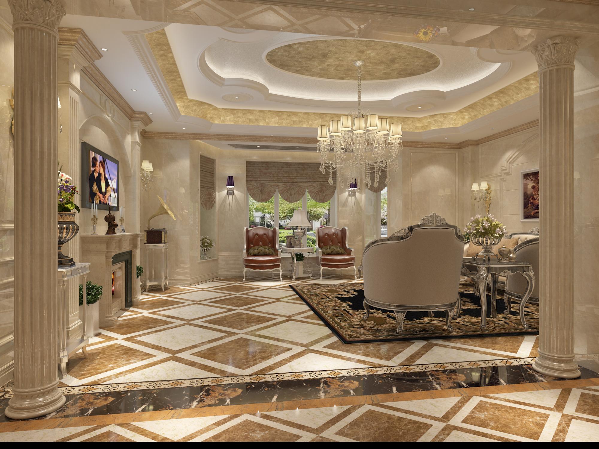 简约 欧式 混搭 别墅 小资 客厅图片来自林上淮·圣奇凯尚装饰在传世康婷·800㎡独栋的分享