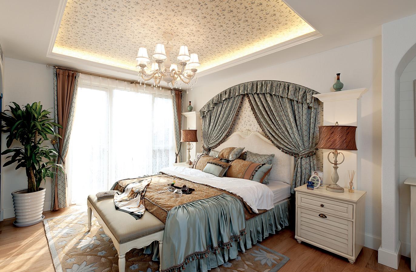 三居 别墅 白领 80后 小资 卧室图片来自优木家装饰在金科阳光小镇的分享