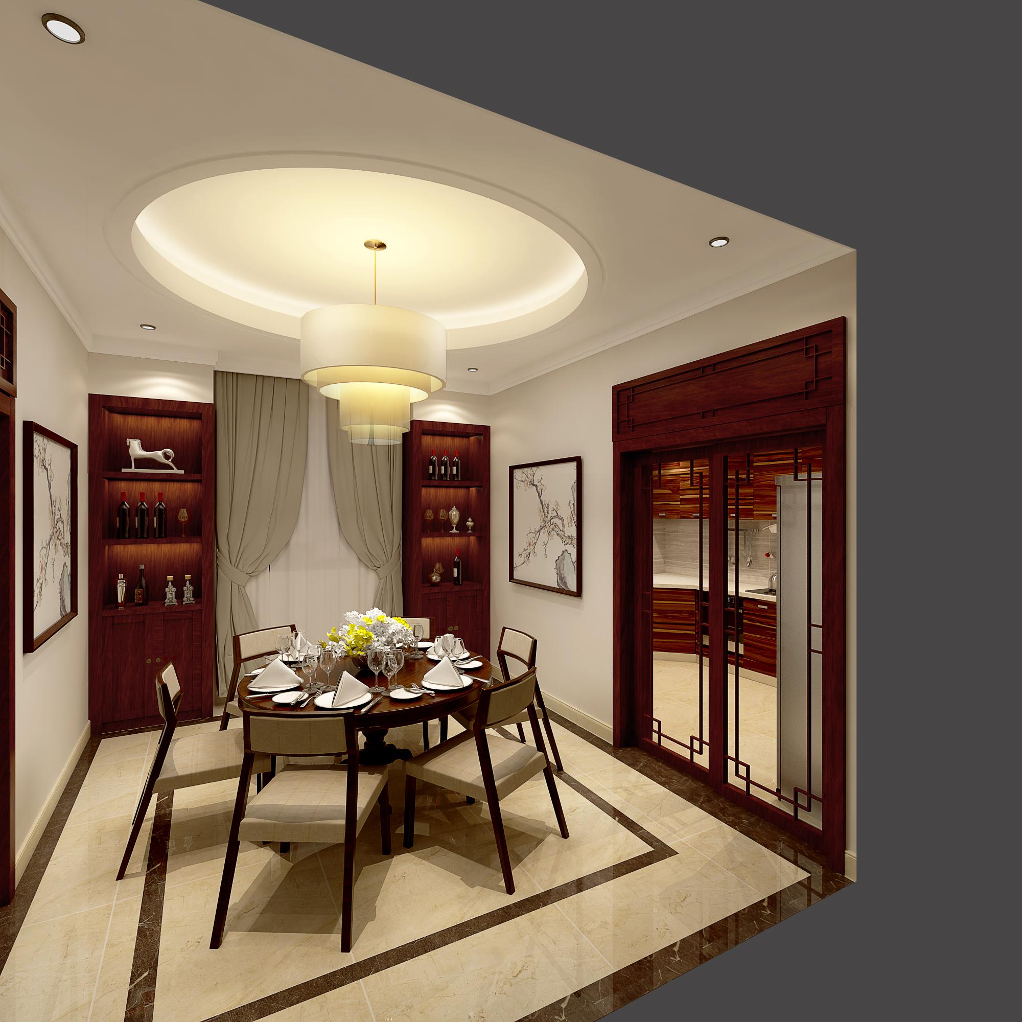 别墅 白领 小资 托斯卡纳 中式 餐厅图片来自林上淮·圣奇凯尚装饰在独栋别墅-建筑设计装修-读墅澜芝的分享