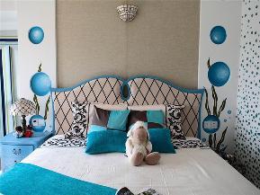地中海 三居 大户型 公寓 复式 小资 白领 卧室图片来自高度国际姚吉智在137平米地中海碧海蓝天清凉舒爽的分享