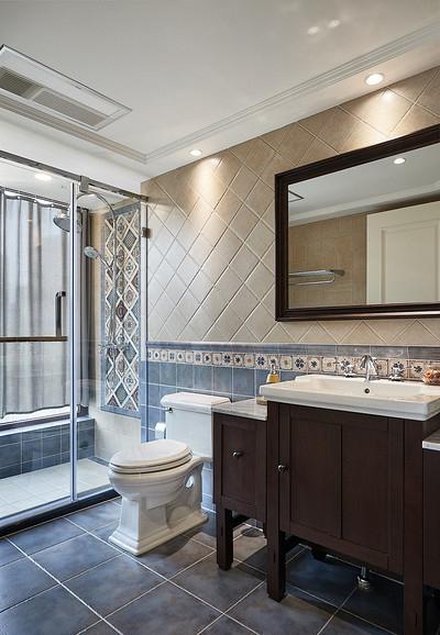 卫生间图片来自家装大管家在淡淡的温馨 110平美式时尚混搭居的分享