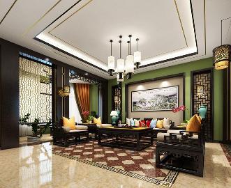中星红庐别墅装修新中式风格设计