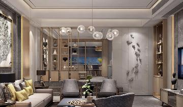 新中式风格叠加别墅装修设计