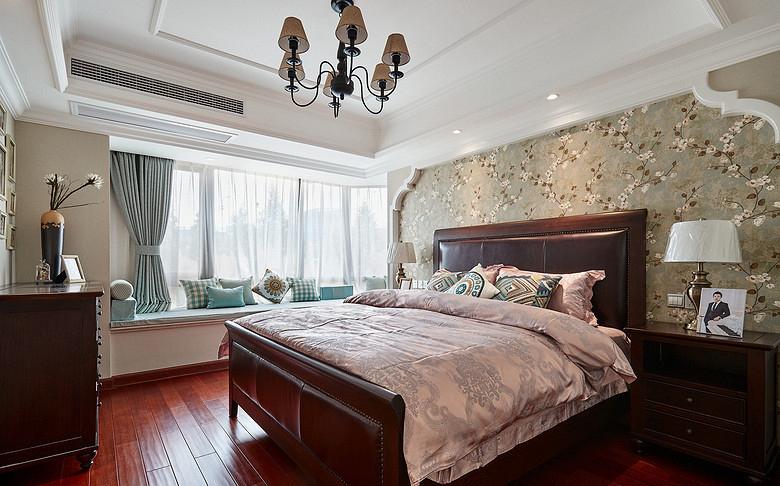 卧室图片来自家装大管家在淡淡的温馨 110平美式时尚混搭居的分享