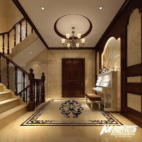 别墅 美式 浪漫 品味 自在 大气 休闲 楼梯图片来自名匠装饰自贡分公司在东方威尼斯440平方美式风格!的分享