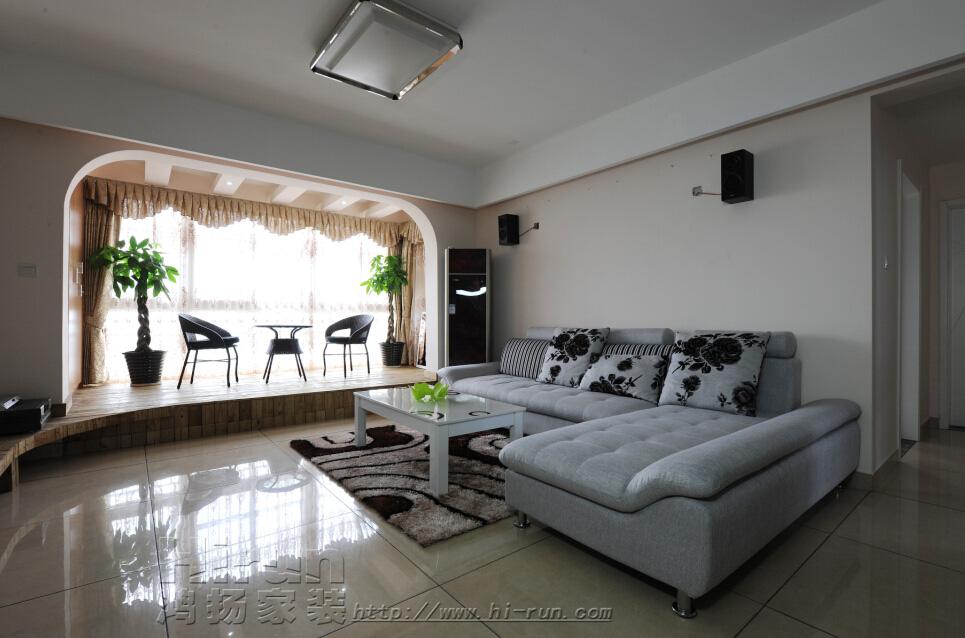 客厅图片来自鸿扬家装武汉分公司在广电兰亭荣荟90-鸿扬家装的分享