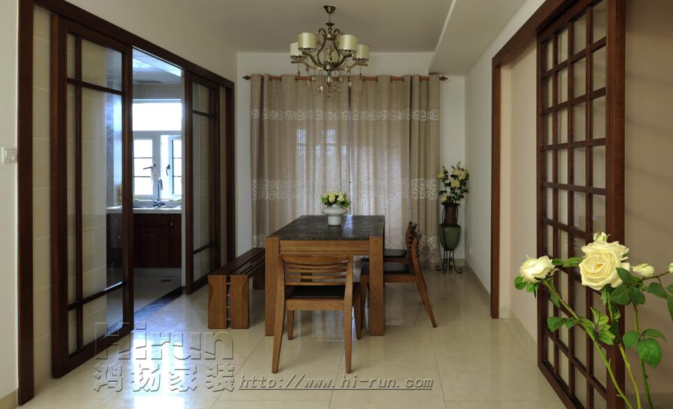 中式 三居 餐厅图片来自鸿扬家装武汉分公司在广电兰亭荣荟120(2)-鸿扬家装的分享