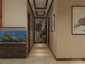 中式 新中式 二居 收纳 小资 玄关图片来自阳光放扉er在力天装饰-中铁国际城-144㎡-中式的分享