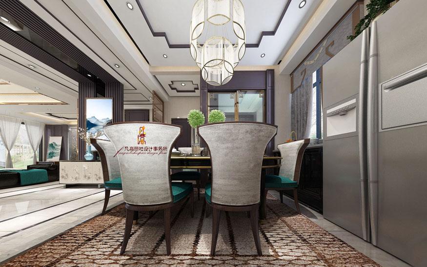 别墅 新中式 原创设计 餐厅图片来自天津凡高丽社空间设计事务所在中式府邸之气的分享