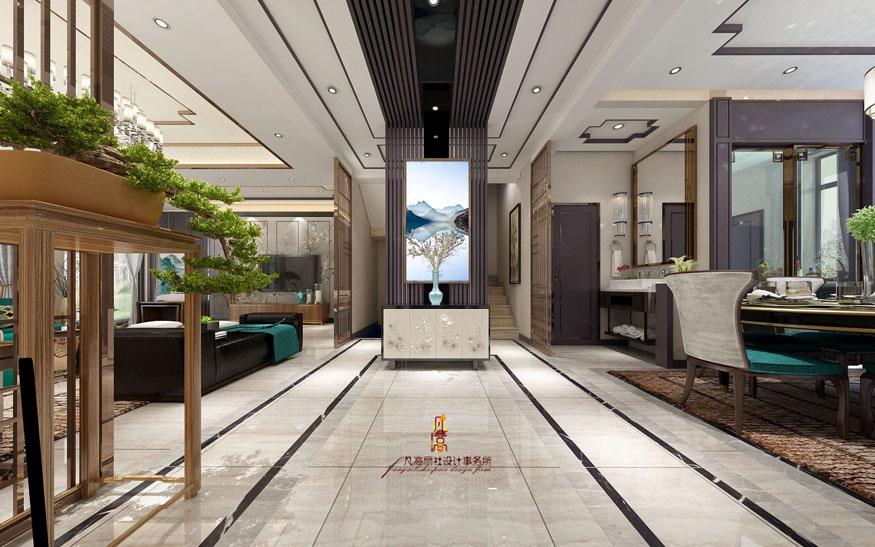 别墅 新中式 原创设计 玄关图片来自天津凡高丽社空间设计事务所在中式府邸之气的分享