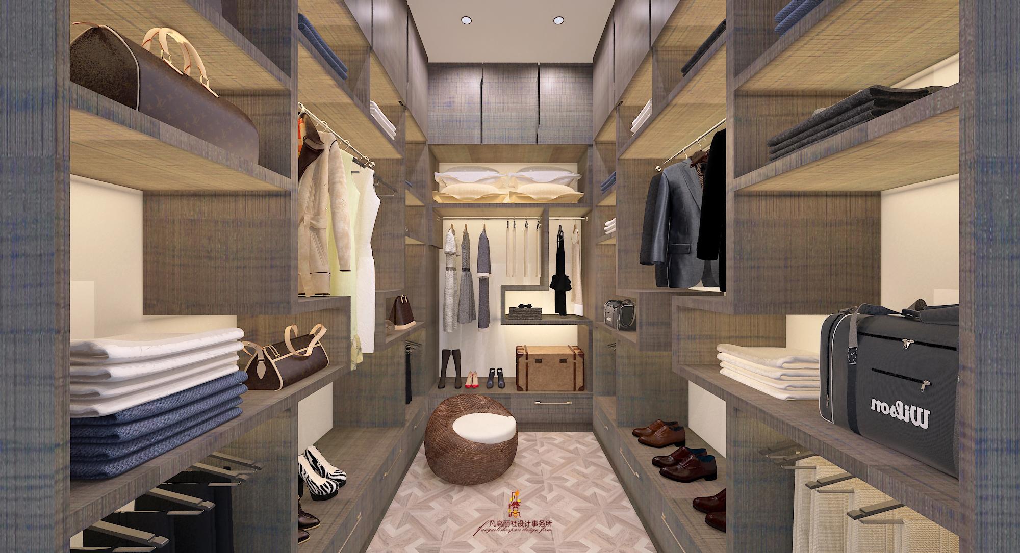 别墅 北欧 新古典 衣帽间图片来自天津凡高丽社空间设计事务所在颜值+气质的分享