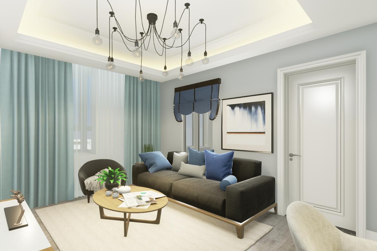 客厅图片来自湖北省大唐安盛建筑工程有限公司在东原晴天见的分享