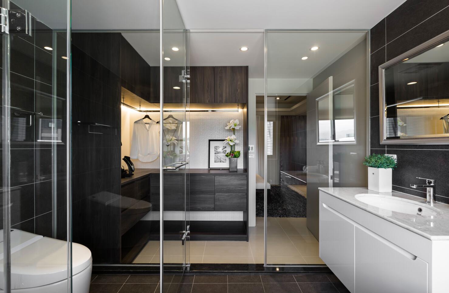 万科第五园 装修设计 现代风格 腾龙设计 卫生间图片来自腾龙设计在万科第五园别墅装修现代风格设计的分享