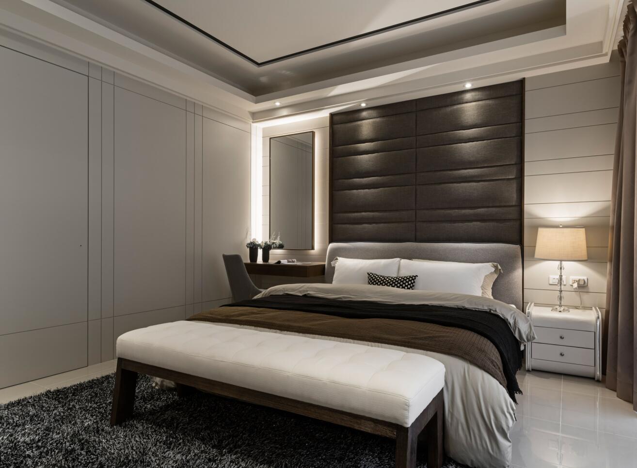 万科第五园 装修设计 现代风格 腾龙设计 卧室图片来自腾龙设计在万科第五园别墅装修现代风格设计的分享