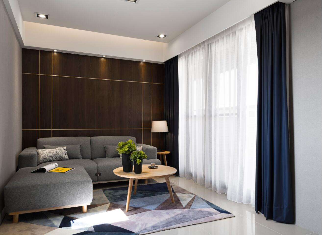 万科第五园 装修设计 现代风格 腾龙设计 客厅图片来自腾龙设计在万科第五园别墅装修现代风格设计的分享