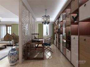 中式 新中式 收纳 小资 二居 玄关图片来自阳光力天装饰在力天装饰-吉宝沁风御庭-138㎡的分享