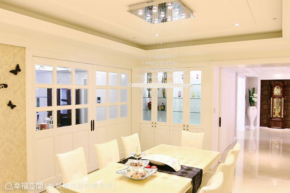 四居 大户型 古典 餐厅图片来自幸福空间在古典和现代交融 419平韩式家风的分享