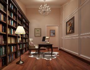 简约 混搭 别墅 白领 小资 美式 美式乡村 田园 书房 书房图片来自圣奇凯尚室内设计工作室在圣奇凯尚装饰—玺萌公馆美式风格的分享