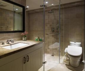 简约 现代 混搭 三居 白领 二居 卫生间图片来自小蜗置家装饰在远大中央公园83㎡现代风格的分享