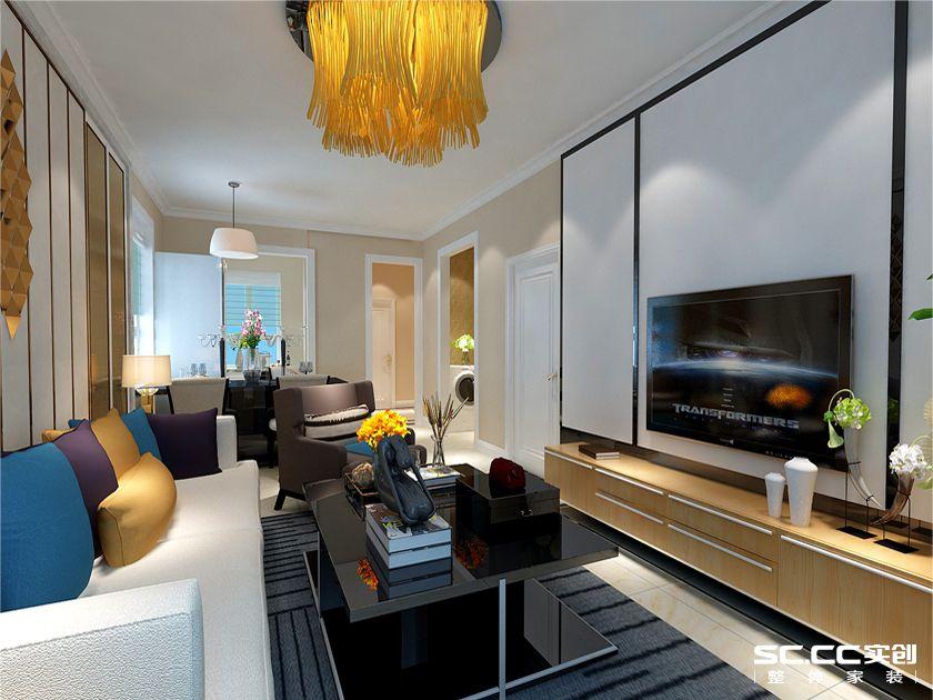青岛实创装 浮山后装修 二居 简约 北欧 客厅图片来自快乐彩在浮山后80平两居室现代简约的分享