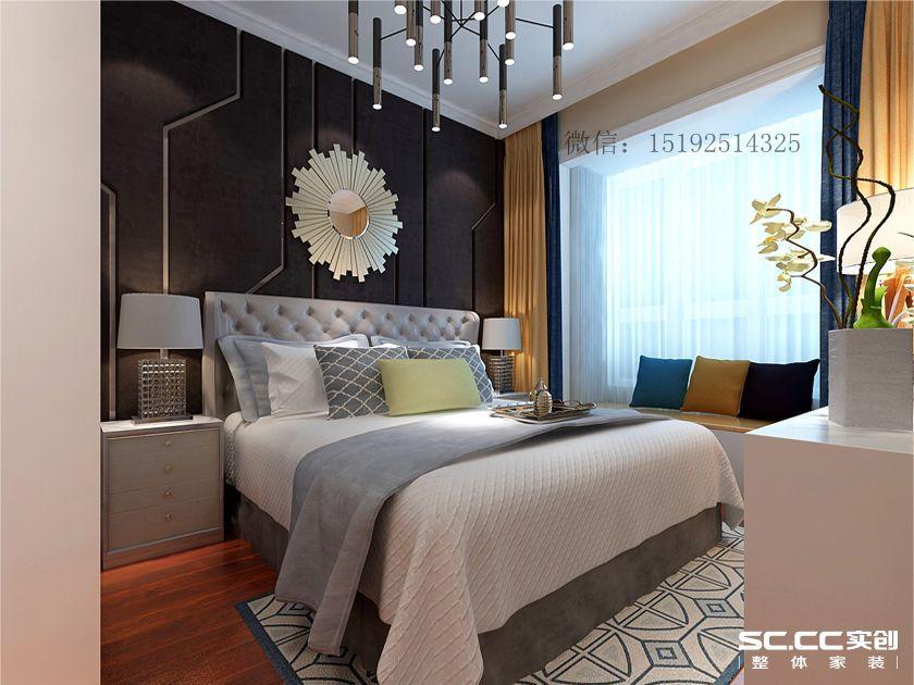 青岛实创装 浮山后装修 二居 简约 北欧 卧室图片来自快乐彩在浮山后80平两居室现代简约的分享