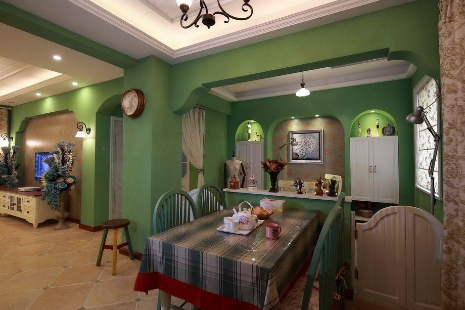 地中海 三居 白领 小资 80后 简约 欧式 田园 混搭 餐厅图片来自小蜗置家装饰在绿地世纪城107㎡地中海风情的分享