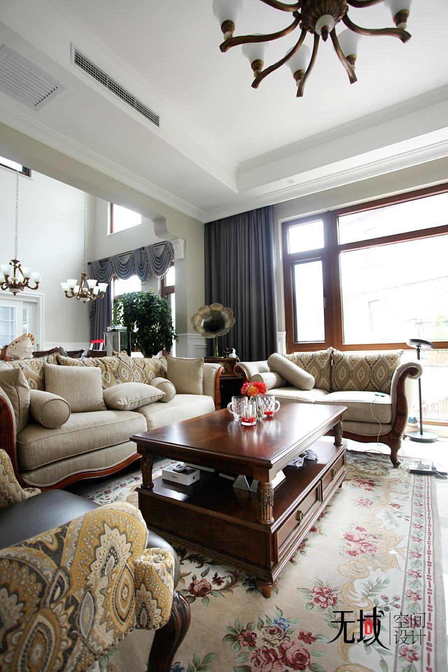别墅 混搭 收纳 小资 客厅图片来自无域空间设计刘艺在一渡新新小镇别墅简美风格设计的分享