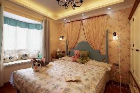 地中海 三居 白领 小资 80后 简约 欧式 田园 混搭 卧室图片来自小蜗置家装饰在绿地世纪城107㎡地中海风情的分享